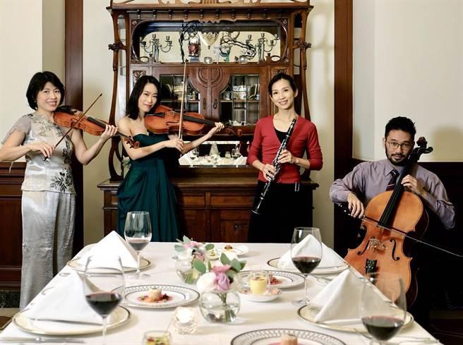 高雄春天藝術節《舌尖上的音符》室內音樂會,音樂名家與主廚攜手帶給觀眾聽覺、視覺與味蕾結合的獨特體驗。(文化局提供)