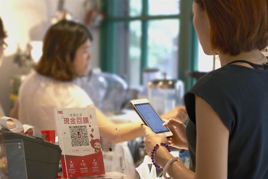 RE紅包APP不限於何種結帳方式皆可搭配使用,等同於消費者如使用有現金回饋的信用卡,就能同時爽領信用卡及RE紅包雙重現金回饋,使現金回饋上看6%。(RE紅包提供)