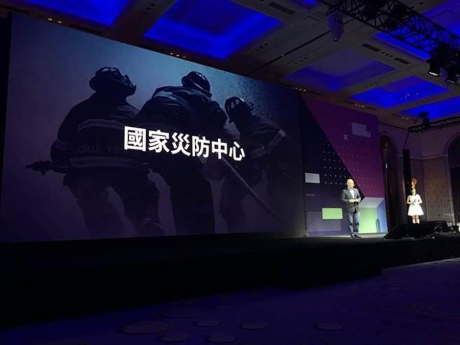 LINE在2018年會宣布成立「國家災害防救科技中心」官方帳號。(圖/黃慧雯攝影)