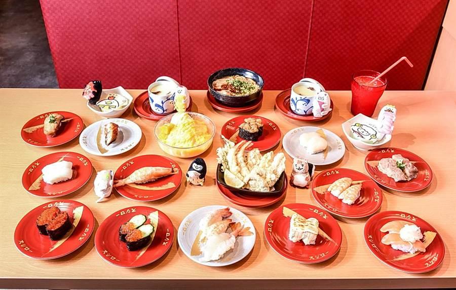 「壽司郎」台灣旗艦店的餐點加飲料高達130種,品項豐富、選擇多樣。(圖/壽司郎)
