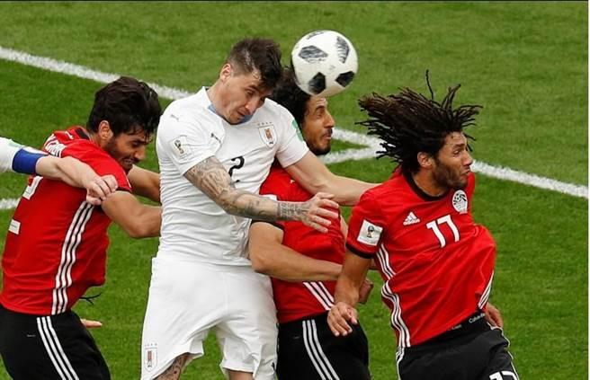 烏拉圭首戰勝利功臣吉曼奈茲,驚傳右腿受傷,將缺席小組賽最後一場與俄羅斯之戰。(路透社資料照)