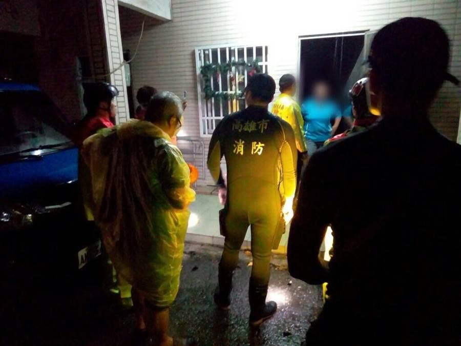 為防豪雨成災,桃源勤和部落連夜撤離254人。(郭韋綺翻攝)