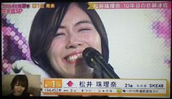 松井珠理奈10年苦熬 AKB總選獲首冠