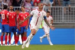 世足》黃金左腳建功 塞爾維亞1球險勝哥斯大黎加