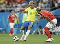 世足》巴西先盛後衰 1比1遭瑞士逼和