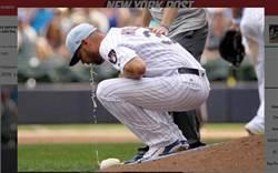 MLB》怎麼回事?釀酒人投手竟投到吐了