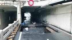 豪雨沖塌台南大同地下道 3機車騎士摔落受傷