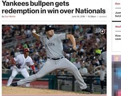 MLB》連抓3出局解危 他神救火助洋基勝國民