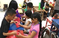 暨大觀餐系學生與南投家扶 陪伴卡度部落孩子學習成長