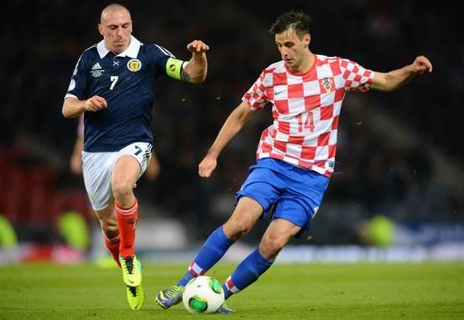 克羅埃西亞前鋒N.卡利尼奇,因為拒絕替補上場而遭到球隊開除。(美聯社資料照)