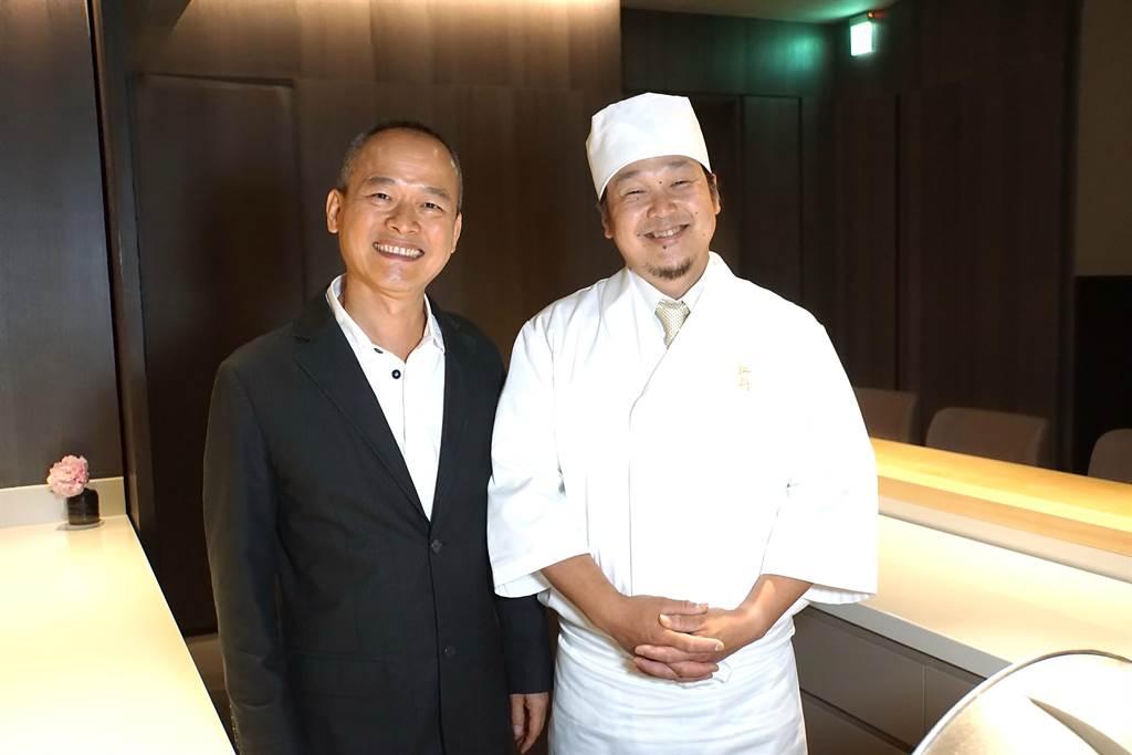 為了「攻頂」,牡丹和食餐飲董事長林桂鼎與日本米其林一星天婦羅名廚長谷川忠彥合作,在台北開設頂級天婦羅餐廳〈牡丹 Tempura〉。(攝影/姚舜)