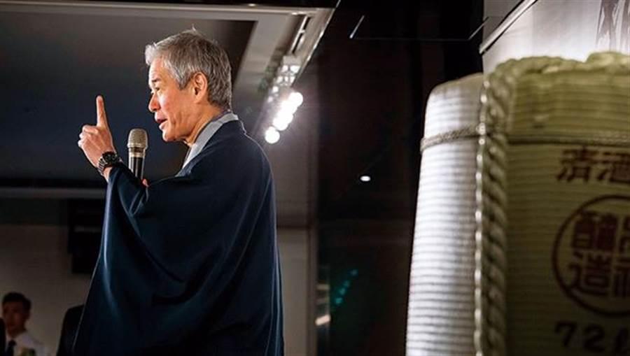 日本清酒「獺祭」5月底在晶華酒店舉行品酒會,聚集近2百名台灣人。(陳宗怡攝)