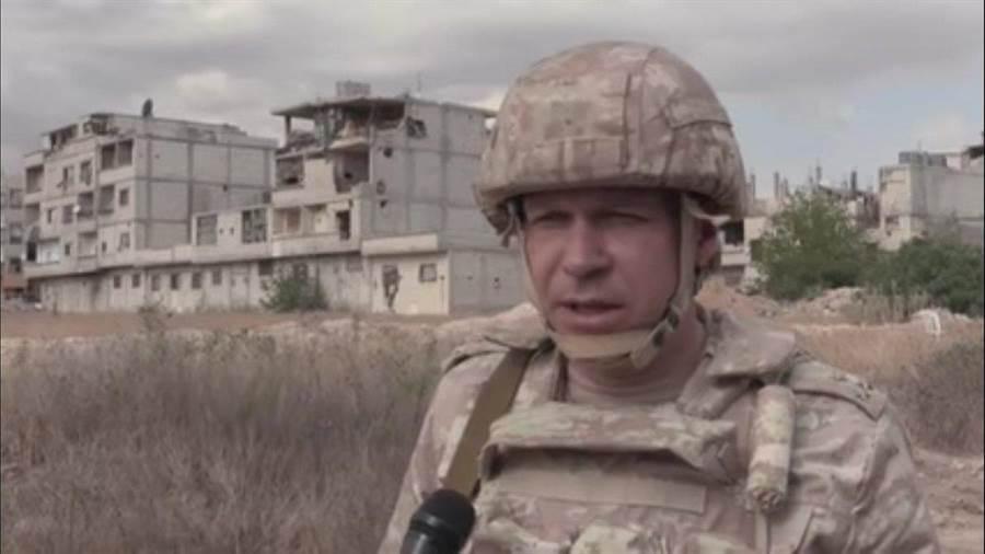 俄羅斯憲兵參加敘利亞的軍事行動。(圖/推特)