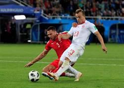 世足》沙基里超神進球 瑞士逆轉勝塞爾維亞