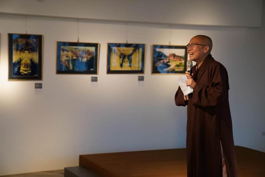 世界宗教博物館發展基金會執行長了意法師感謝大家對宗教博物館的支持,希望大家可以在新的多元空間裡找到彼此。(世界宗教博物館提供)