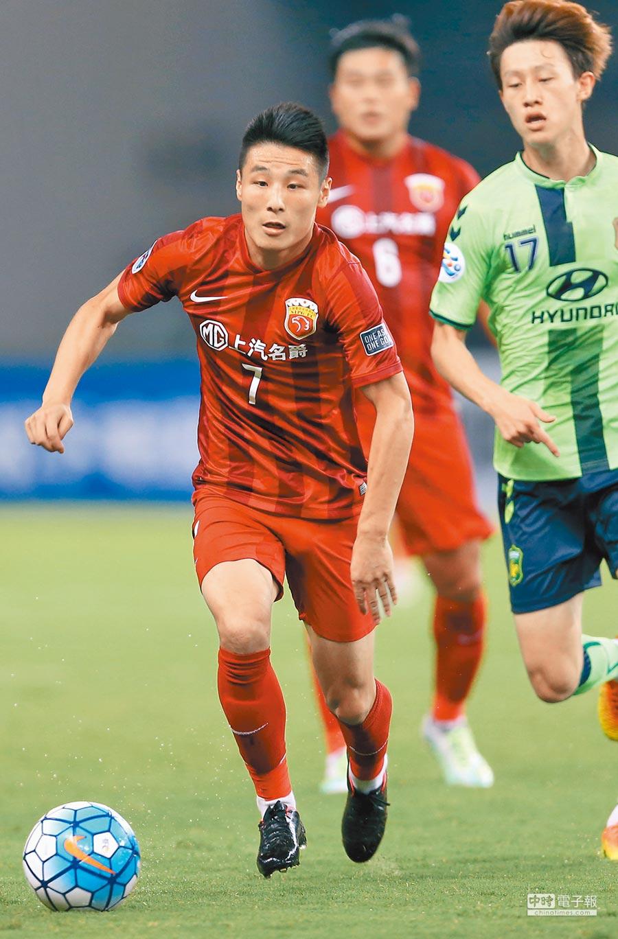 上海上港隊球員武磊。(新華社)