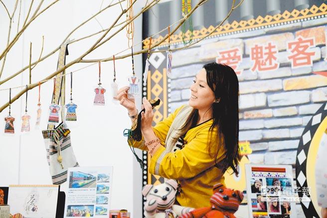 台灣原住民手工藝品前進廈門自貿片區海滄園區的台灣創業館。(中新社資料照片)