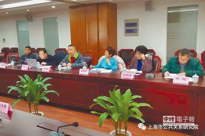3月8日,上海市公共關係研究院的研究團隊應邀參加由上海僑務理論研究中心舉辦的理論研討會。(取自上海市公共關係研究院官網)