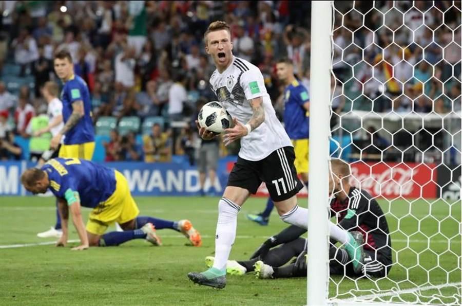 羅伊斯首次先發,就在下半場替德國攻入追平球。(路透)