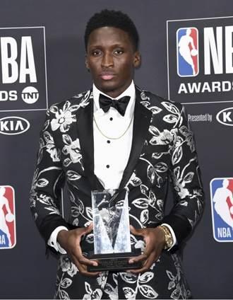 NBA》溜馬歐拉迪波獲最佳進步獎