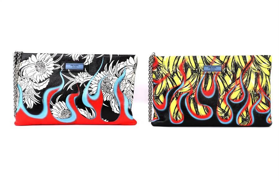 PRADA經典圖騰鏈帶包,5萬4500元,SOGO敦化專賣店獨家販售。(PRADA提供)