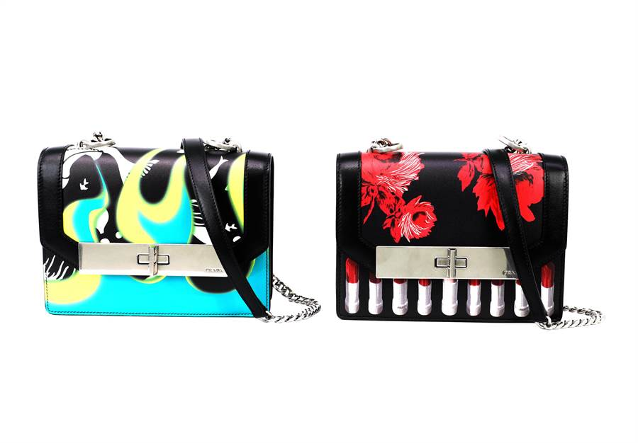 PRADA Severine系列經典圖紋鏈帶包,7萬7500元,SOGO敦化專賣店獨家販售。(PRADA提供)
