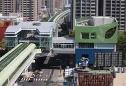 綠潮流夯!台中捷運綠線豐樂公園站打造植生牆
