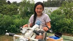 12歲天才!偵測塑膠微粒 美華裔少女發明水下機器人