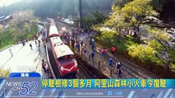 阿里山小火車停三個月今復駛 遊客搶搭首班列車