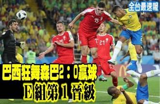 《全台最速報》狂舞森巴!巴西2:0勝塞爾維亞 E組第1晉級