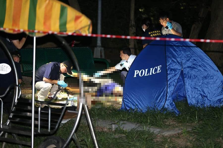 疑為犯下五股國命案的槍手黃克樑陳屍新竹南寮。(徐養齡攝)