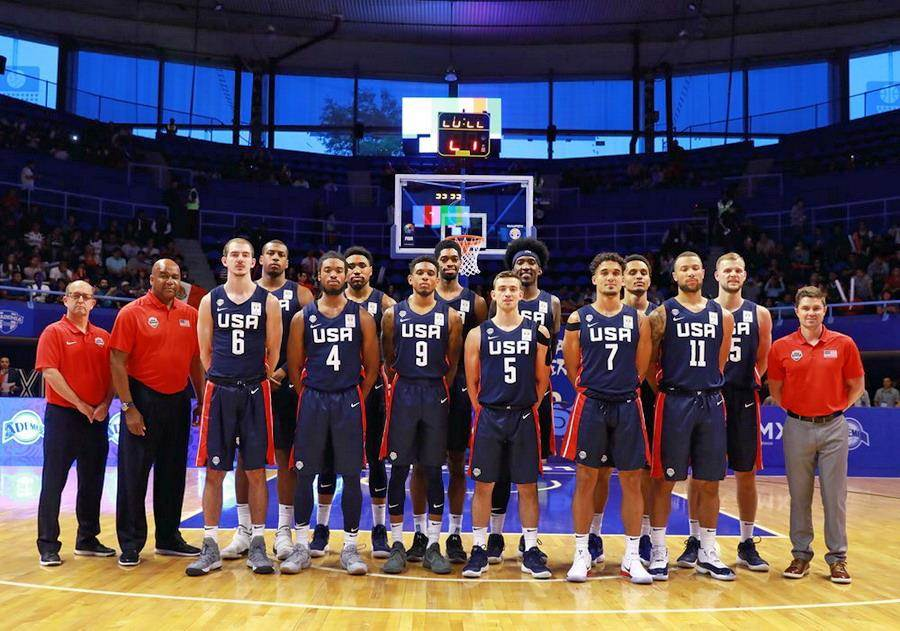 這支美國隊以發展聯盟球員為主力,勉強只算三軍。(取自FIBA官網)