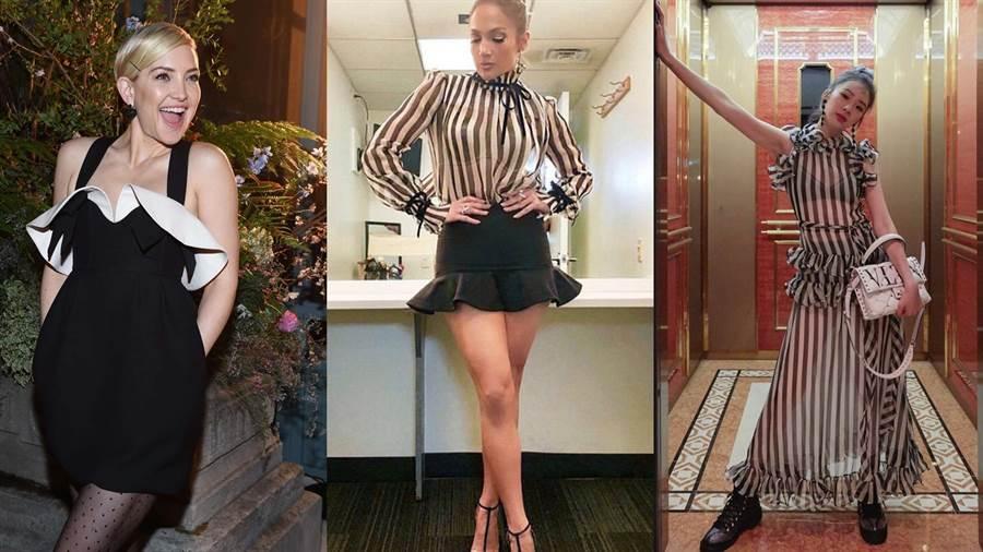 珍妮佛洛佩茲& 凱特哈德森黑白穿 ! 展露性感風情。