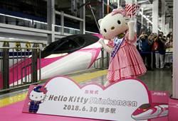 卡娃伊!凱蒂貓新幹線首發 粉絲擠爆博多站