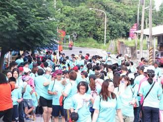 用腳旺台灣 員林百果山親子龍健行吸引1500民眾