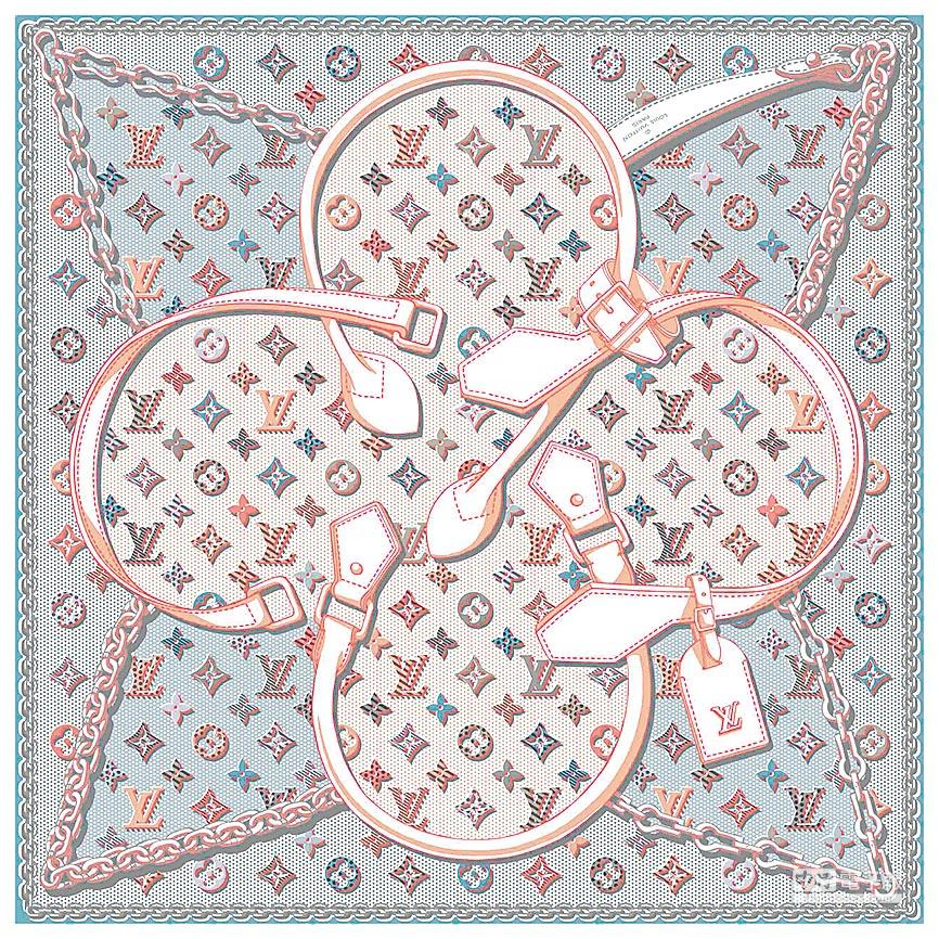LOUIS VUITTON Pop Monogram方巾,1萬6300元。(LV提供)