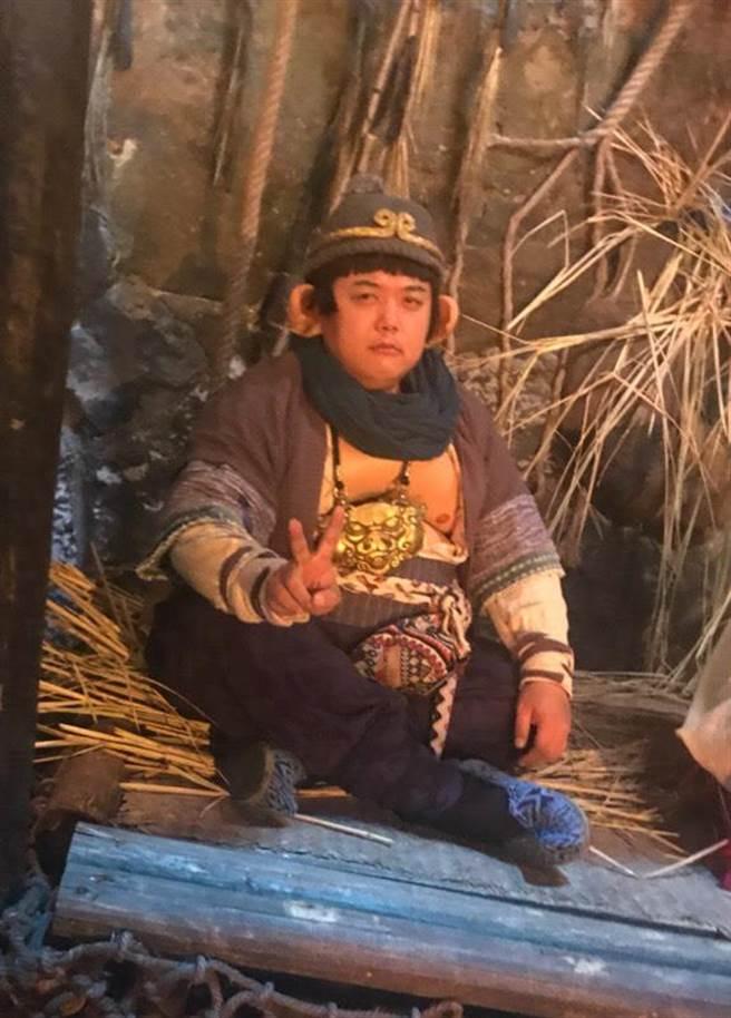 林子聰在網大《齊天大聖—火焰山》中扮演豬八戒。(艾迪昇提供)
