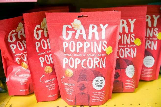 家樂福美國周首次引進Gary Poppins爆米花系列,113至227g,10日前原價169元、特價139元。(家樂福提供)