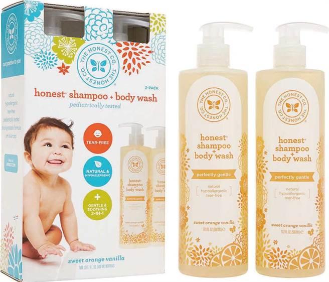 家樂福美國周首次引進潔西卡艾芭自創的Honest寶寶洗髮沐浴2in1,每瓶502ml,10日前原價699元、特價589元。(家樂福提供)