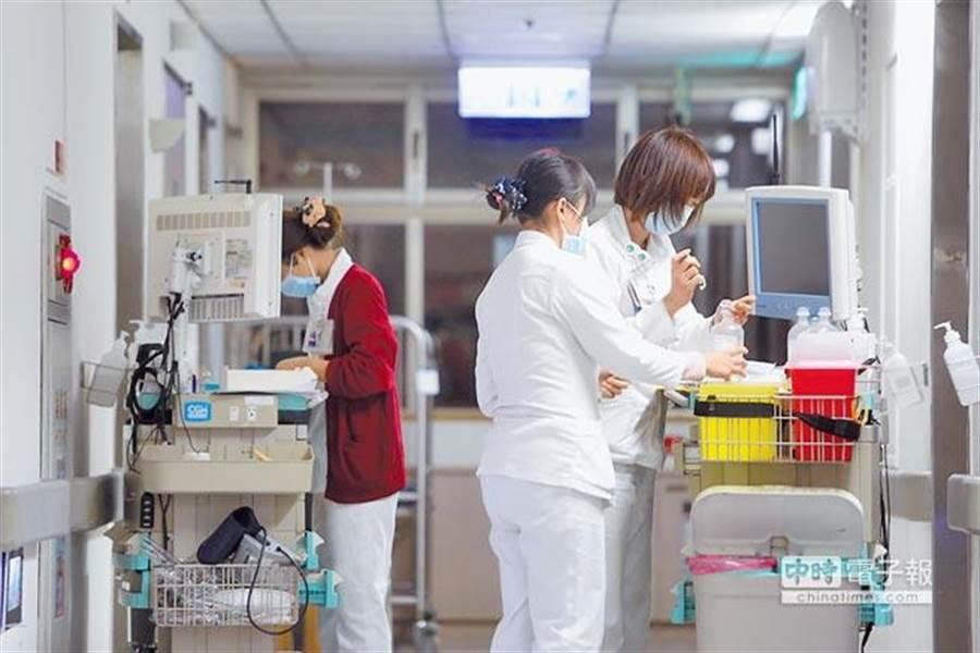 台灣很多醫院都出現人手不足的情況。(中時資料照)