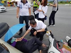 鐵漢柔情!侯友宜訪台東 遇老婦自摔車禍出手相助