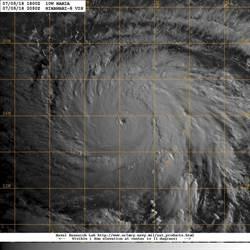 中颱瑪莉亞已見清晰颱風眼 鄭明典讚「很美」