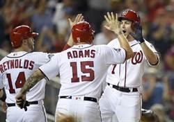 MLB》9分落後大逆轉 國民平隊史紀錄
