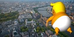 美總統訪英 憤怒川普充氣娃娃將飛越倫敦上空
