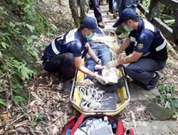 走步道遇落石2人傷 消防民間齊救援