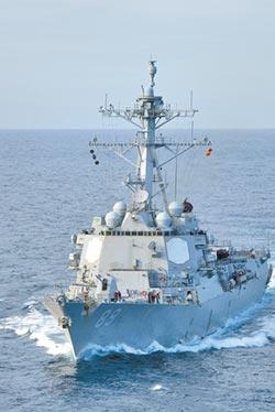 美艦穿越台灣海峽 原擬航母戰鬥群執行任務