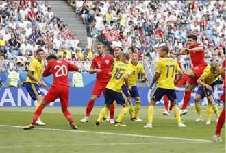世足》英格蘭兩球頂翻瑞典 隔28年重返4強