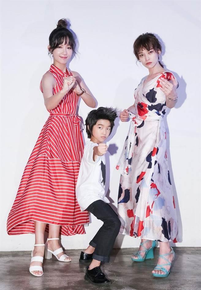 安唯綾、白潤音、姚以緹出席《烏鴉燒》入圍台北電影節活動。(蘇蔓攝)