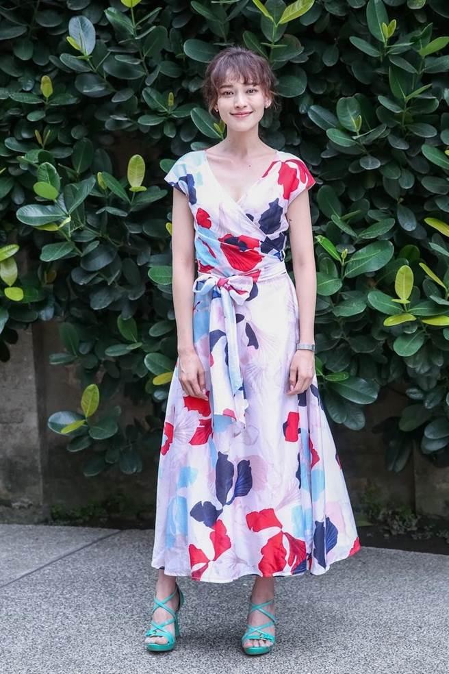 姚以緹出席《烏鴉燒》入圍台北電影節活動。(蘇蔓攝)