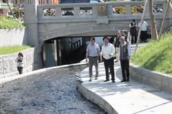 颱風前視察中市綠川整治  葉俊榮肯定防洪設計